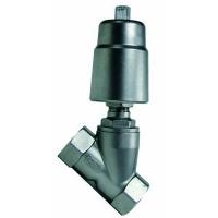 Inox kosi navojni ventil sa pneumatskim pogonom