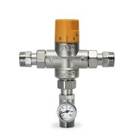 Vertikalni termostatski mešni ventil sa termometrom