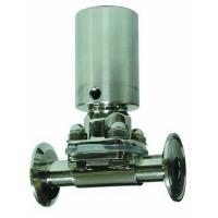 Inox ventil sa dijafragmom sa pneumatskim pogonom, brza spojnica (clamp)