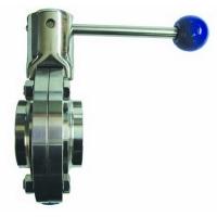 Inox leptir ventil kraj za zavarivanje