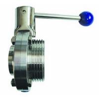 Inox leptir ventil navoj / kraj za zavarivanje