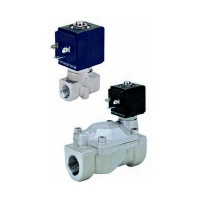 Elektromagnetni ventil dvosmerni indirektnog dejstva PN22-PN25-PN40, inox, normalno zatvoren